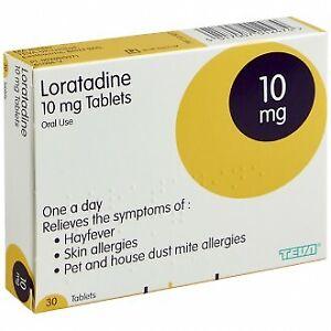 Loratadine (Clarityn) 10mg Hayfever Allergy Relief Tablets 30/90/180 - UK Stock