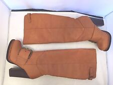Nine West Throwdown Women's Size 5 M Cognac Leather Knee-High Boots New in Box