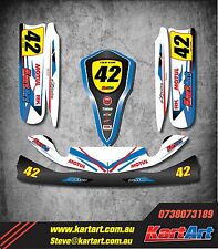 Tony Kart OTK M4 full custom KART ART sticker kit STORM STYLE / graphics decals