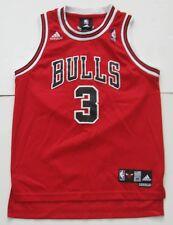 M Youth Boys Adidas Ben Wallace Chicago Bulls NBA Basketball Jersey Red Sewn EUC