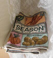 """Always in Season"" Monthly Vegetable Tapestry Table Runner 12 1/2"" x 34"""