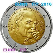 2 € COMMEMORATIVE NEUVE  1  x   PIECE  FRANCOIS  MITTERRAND 2016      disponible
