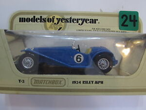 MATCHBOX MODELS OF YESTERYEAR Y-03 1934 RILEY MPH