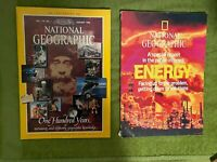 2 National Geographic magazines 100 YEARS Jan 88 & Special Report Energy Feb 81