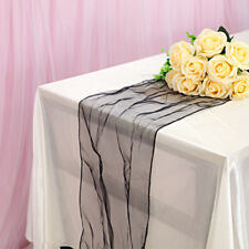 30x275cm Sheer Organza Table Runners Party Chair Sash Soft Fabric Wedding Decor
