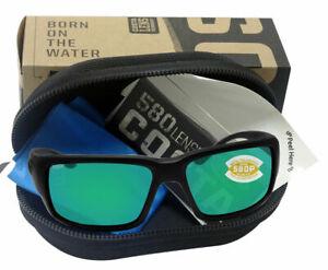 NEW Costa Del Mar Fantail Blackout Green Mirror 580P Plastic Polarized Lens