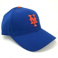 New York NY Mets Outdoor Cap Snapback Hat Curved Brim Blue Orange NY Logo