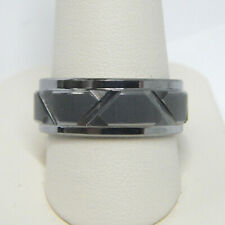 TRITON / FG MEN'S 8.0MM COMFORT FIT GRAY TUNGSTEN CARBIDE WEDDING BAND RING