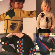 1985 Koala Australia Dolman Graphics Womans Day Knitting Crochet Pattern Vintage