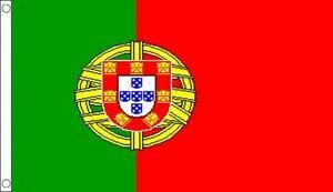 Portugal Flag 5ft x 3ft Portuguese National Flag - 2 Metal Eyelets