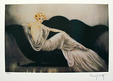 """LOUIS ICART """"LOVESEAT"""" Signed Limited Edition Small Giclee Art"""