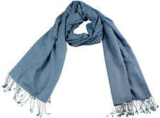 "Pashmina Schal Hellblau, 70% Cashmere 30% Seide, silk scarf light blue 22"" x 72"""