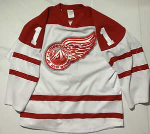 AHL Adirondack Red Wings White Jersey Size Youth  XL