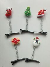 Christmas Hair Clips Santa Snowman Hairpins Cartoon Clamp