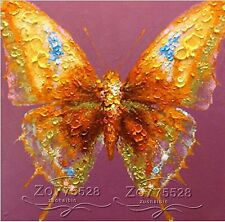 "NO Frame/Pure Hand-painted Canvas Oil Painting Art ""Butterfly"" B275501"