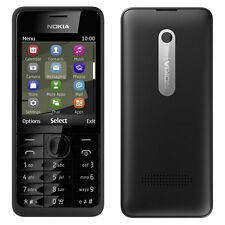 BRAND NEW NOKIA 301 BLACK UNLOCK SIM FREE 3G PHONE WITH BLUETOOTH AND FM RADIO