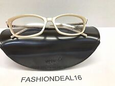 New Montblanc Authentic MB 437 Beige Pearl MB437 059 53-15-135 RX Eyeglasses