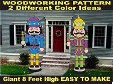 GIANT NUTCRACKER #2  8 FEET HIGH  CHRISTMAS WOODWORKING PATTERN,plan, yard art
