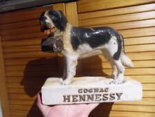 Vintage statue Pub HENNESSY cognac brandy advertising St Bernard Chien déco bar
