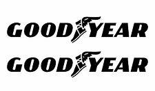 2x GOOD YEAR 18x3,5cm  Aufkleber Car Window Bumper  Sticker Vinil 228