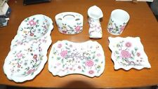 Old Foley Chinese Rose Collection Boot Tray Pots 6 Pieces