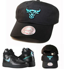 Mitchell & Ness Chicago Bulls Dad Daddy Strapback Hat Nike Air Force1 Iridescent