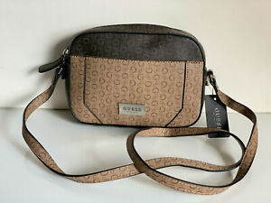 NEW! GUESS INSIGHT COLLECTION NATURAL BROWN CROSSBODY SLING MESSENGER BAG SALE