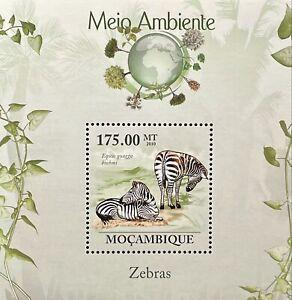 MOZAMBIQUE ZEBRA STAMPS SS 2010 MNH WILDLIFE WILD ANIMALS ENVIRONMENT FAUNA