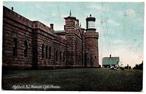 Highlands N.J. Navesink Light Houses 5744 Germany Vintage Postcard New Jersey