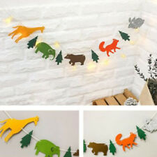 Party Garland Hanging Paper Animal Birthday Baby Banner Bunting Decoration FG