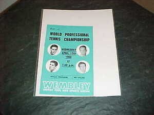 1968 World Professional Tennis Championship Tennis Program Wembley