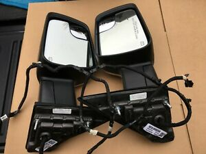 2019-2021 Ram 1500 Truck Left & Right Side Turn Signal Door Mirrors OEM Chrome