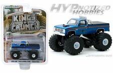 GREENLIGHT 1:64 1985 GMC HIGH SIERRA 2500 MONSTER TRUCK BEAR FOOT BLUE 49060-C