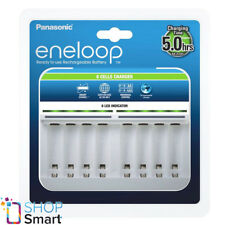 PANASONIC ENELOOP 8 CELLS CHARGER BQ-CC63 FOR AAA AA BATTERIES AUTO VOLTAGE NEW