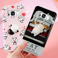 3D Cute Soft Squishy Lazy Cat Paw Doll Case Cover Phone for Samsung Galaxy S8 S7
