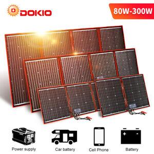 Dokio 100w 200w 300w Panneau solaire portable pliable pour VR/Camping/Téléphoner