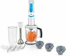 Braun 400W 21 Speed 5-Cup MultiQuick Spiralizer & Hand Blender White/Blue MQ5064