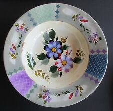 Serving Salad Pasta Dish Bowl Stoneware Wildflower Whisper Pattern Large 13""