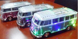Bluetooth Car Shaped VW Kombi or Ute Speaker Radio Flashing Lights Combie