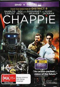 CHAPPIE. Hugh Jackman, Sharlto Copley. Brand New/Sealed. R4 DVD