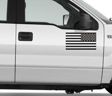 2x American Flag Sticker Vinyl Decals for Car Jeep F150 BLACK GLOSS
