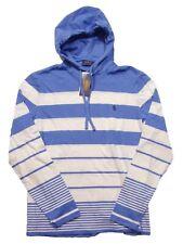 Polo Ralph Lauren Men's Scott Blue/White Multi Striped Hooded T-Shirt