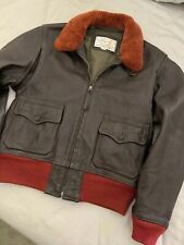 AERO Leather of Scotland, M-422a US Naval Aviator Style Leather Jacket, Sz. 40