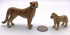 Schleich Female Cheetah Mother & Baby Cub 14327 14614 Animal Figures Retired