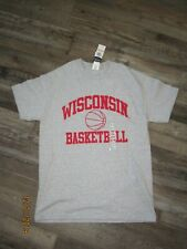 Gildan Gray Wisconsin Badgers Basketball T-Shirt Size M Nwt