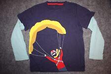 Mini Boden 6-7Y Parachute Hang Glider Appliqué Shirt Blue Red Yellow