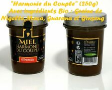 "Miel+Nigelle Maca Guarana Ginsing BIO ""Harmonie du Couple"" H/F 250 g Made in Fr"