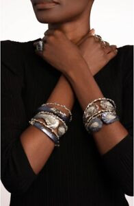 ALEXIS BITTAR Crystal Baguette Bangle Bracelet NWT