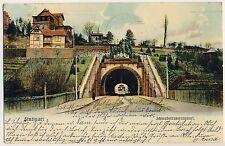 STUTTGART Schwabtunnel / Schwabstrasse / Straßenbahn / Villa * AK um 1900