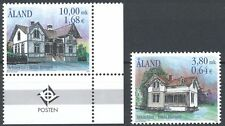 Aland Finland 2000 MNH Set (2) - Architecture - Hilda Hongell House Buildings